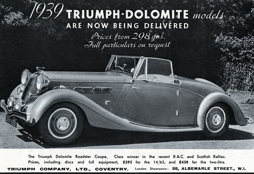 1939_Triumph_Dolomite_Roadster_Coupe_advert copy