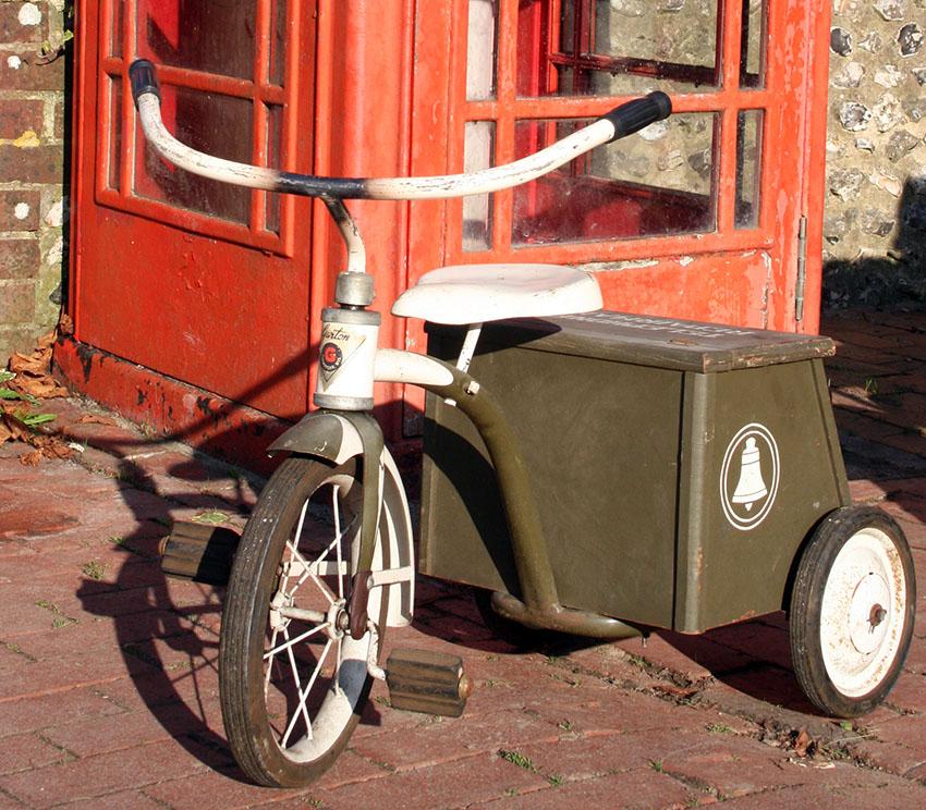 1950s GARTON Telephone Repairman Tricycle 05