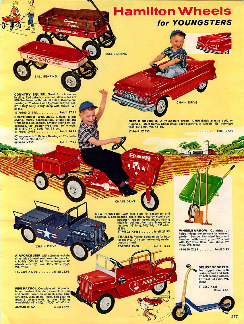 1960 hamilton pedal car advert