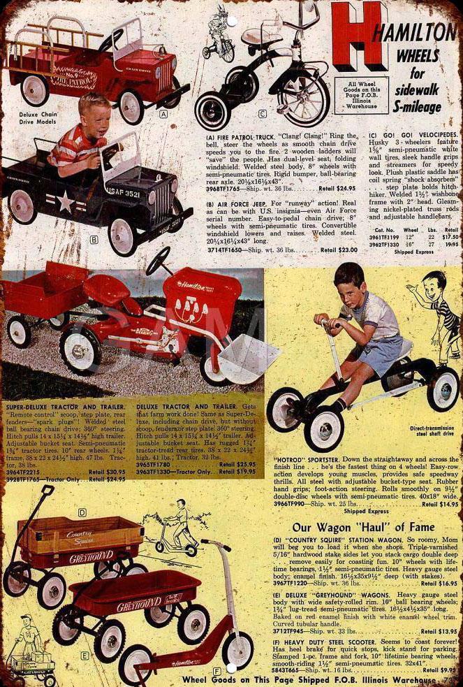 1963 hamilton pedal car advert