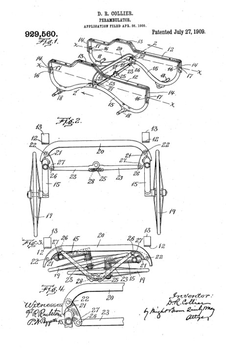 collier keyworth perambulator patent 1909