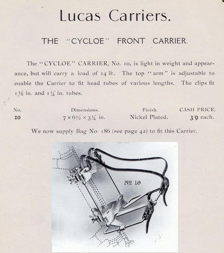lucas cycloe front carrier