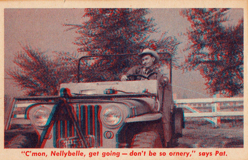 pat brady cereal card 1953 nellybelle