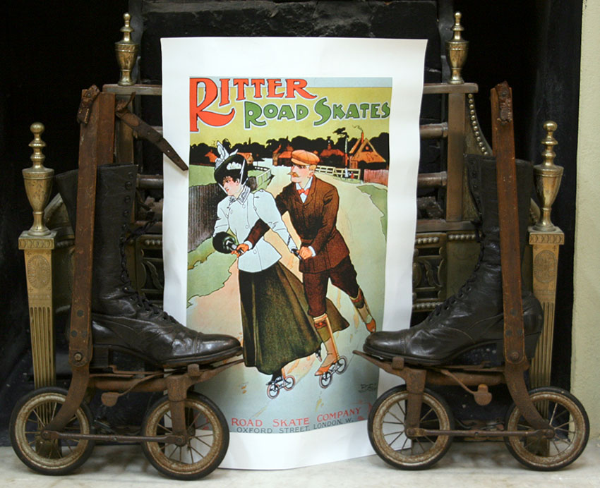 1896 RITTER SKATES LADIES Left Right