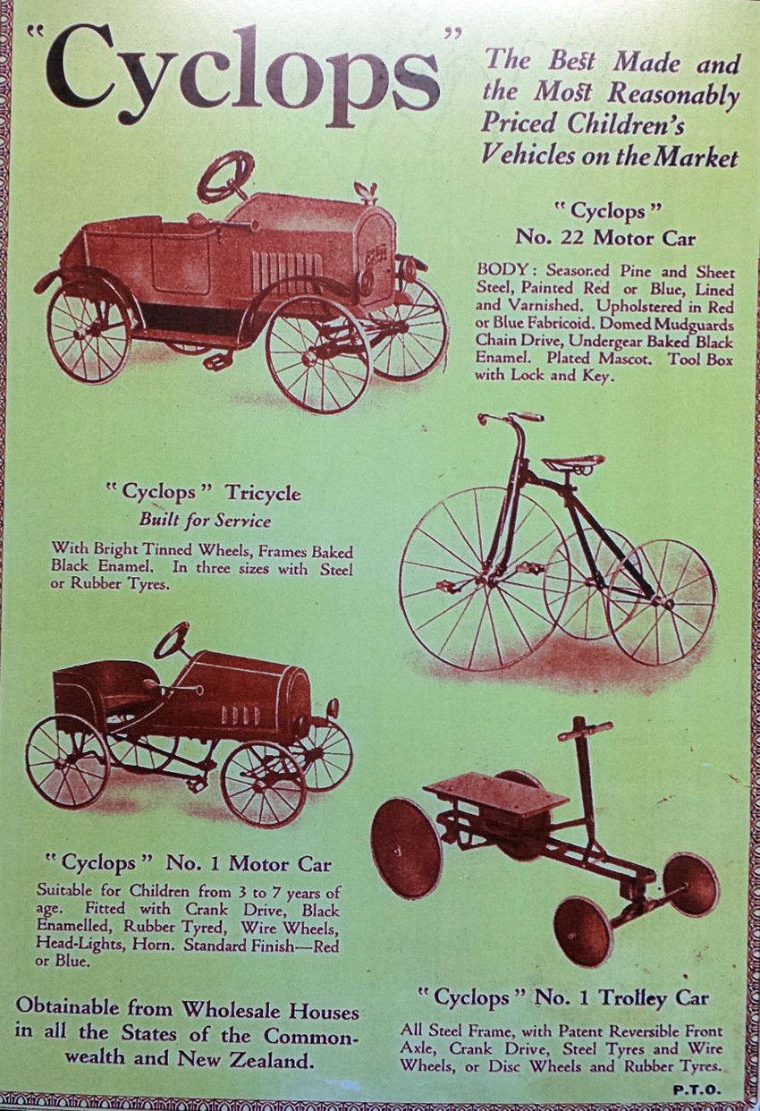 1920s CYCLOPS Flivver trike car
