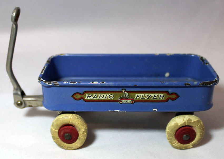 1933 Chicago World's Fair 'Radio Flyer' Souvenir Coaster Wagon 4