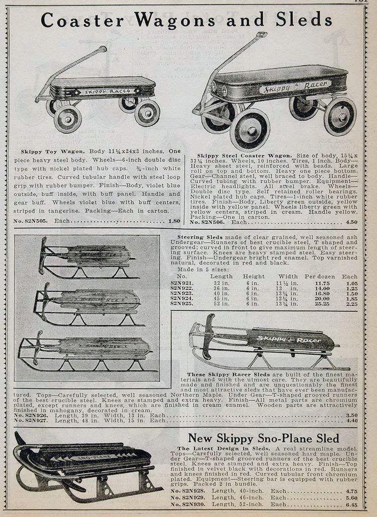 1934 skippy sno-plane sled