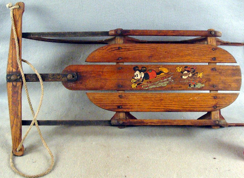1935 MICKEY MOUSE Flexible Flyer Sled 04
