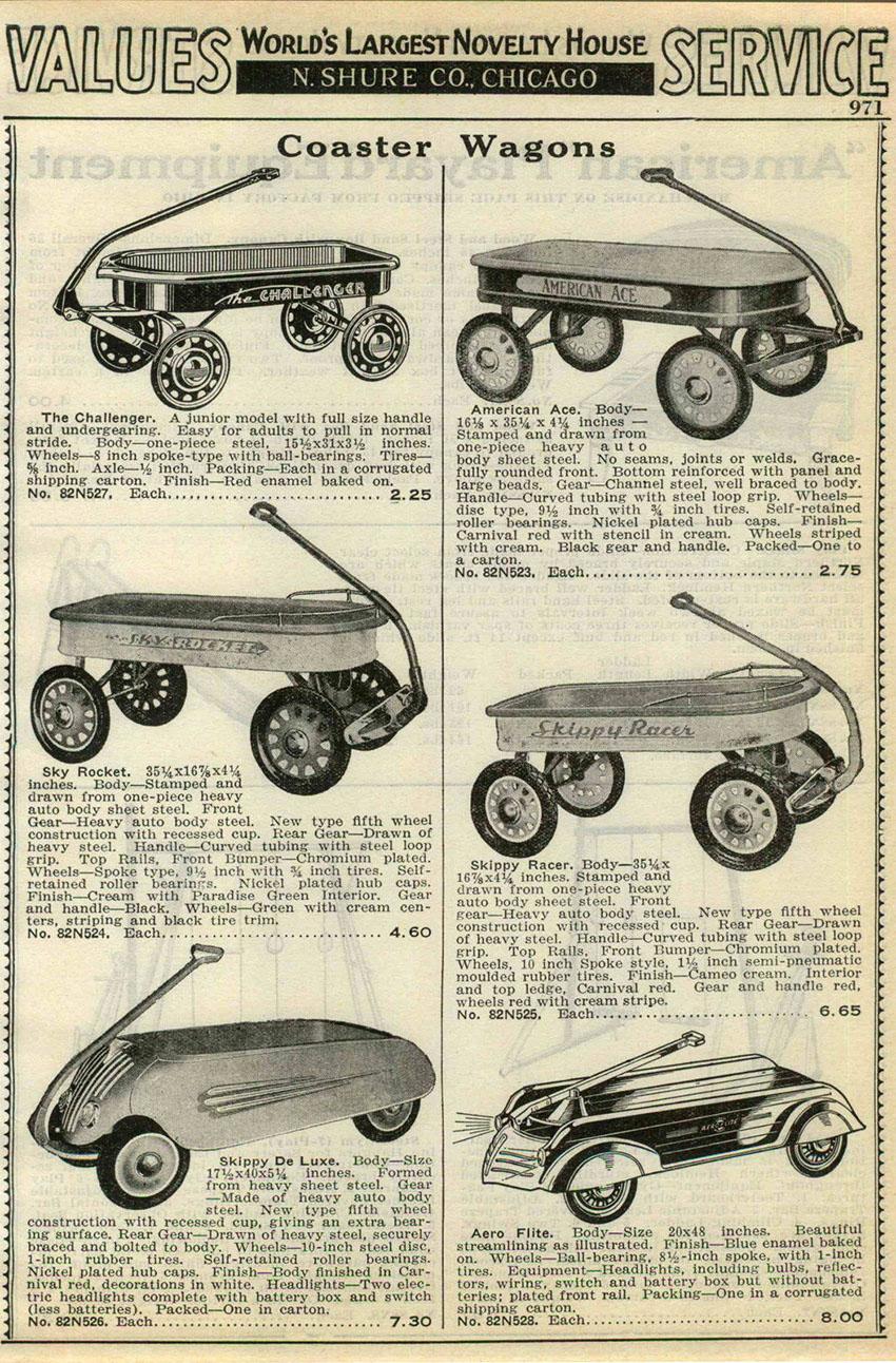 1938 skippy de luxe coaster wagons