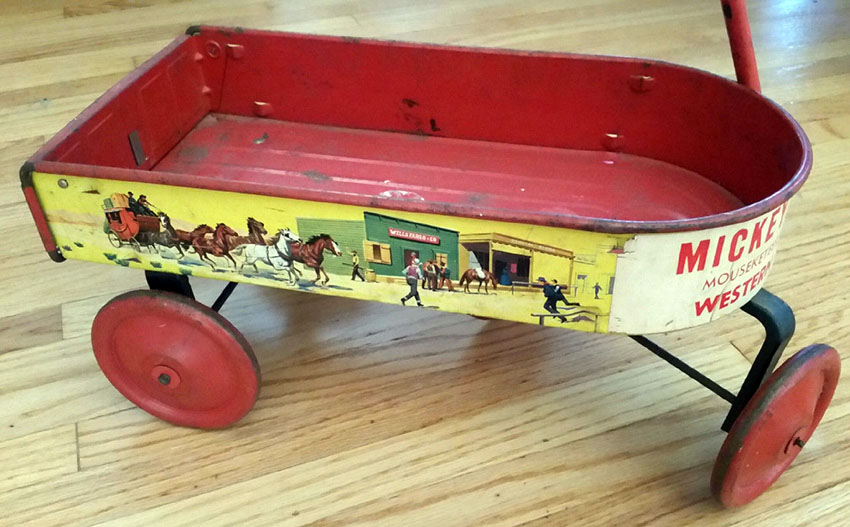 1940s Mickey Mouse Club Mouseketeer Western Prairie Wagon 01