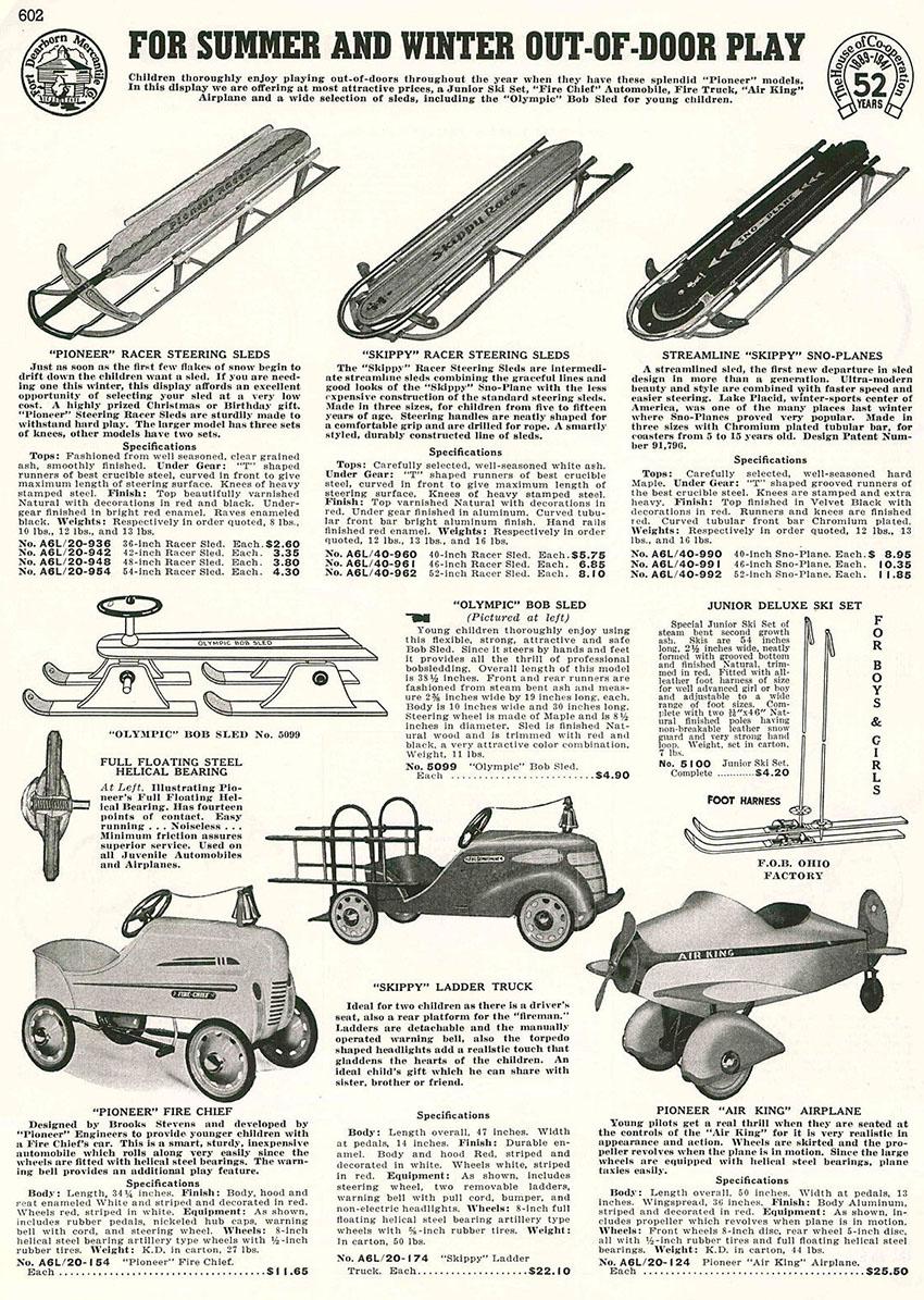 1941 skippy sno-plane sled