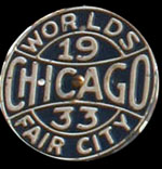 CHICAGO WORLDS FAIR LICENCE PLAT