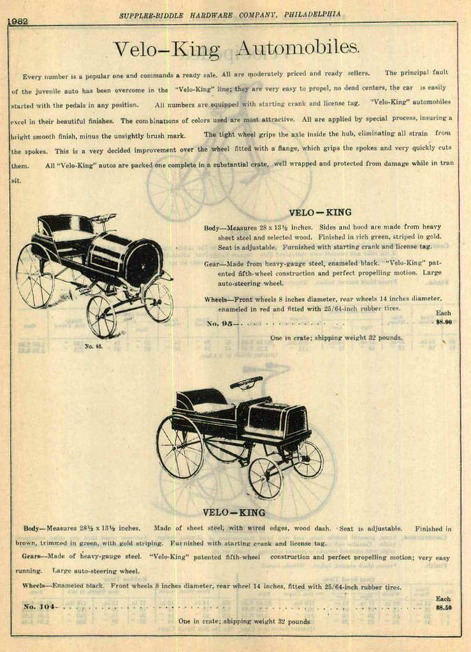 1915 velo king cars