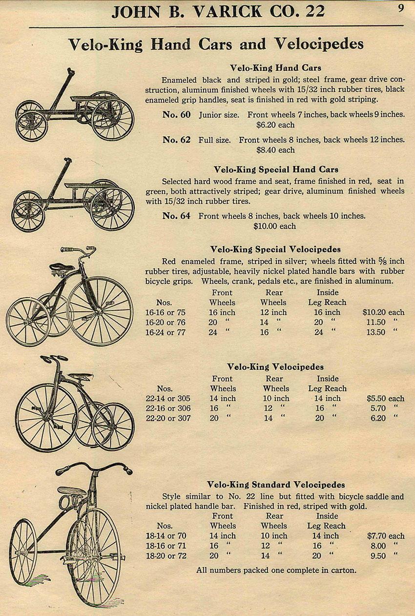 1922 velo king advert