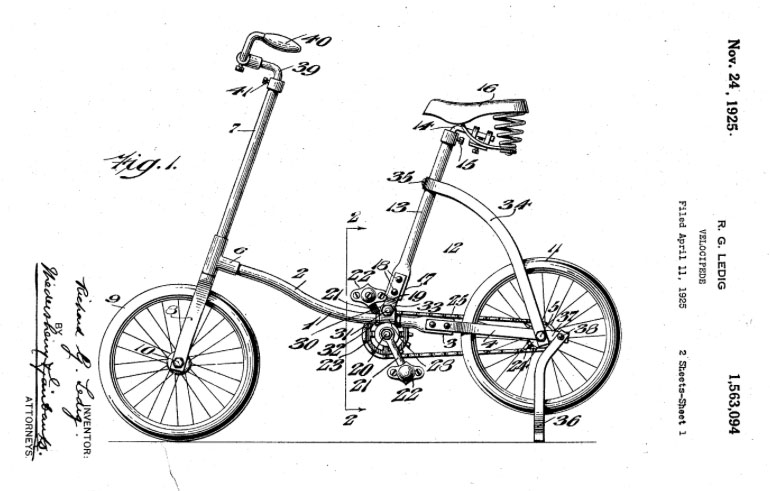 RICHARD G LEDIG sidewalk bike adjustable frame
