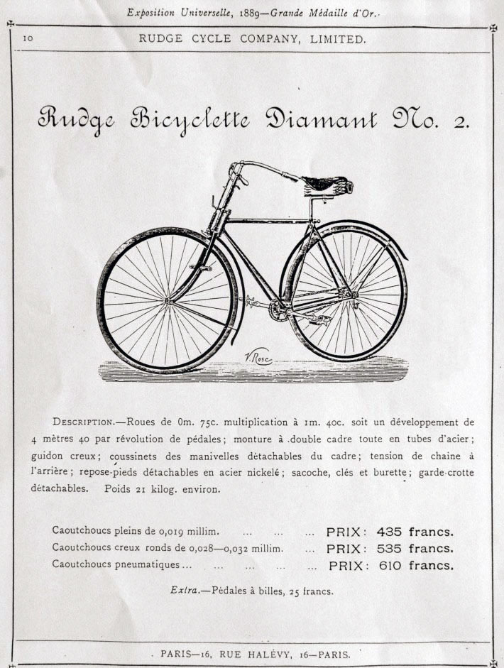 1890 Rudge Bicyclette Diamante No 2 3