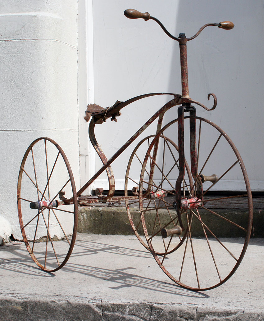 1870s Velocipede Tricycle metal 05