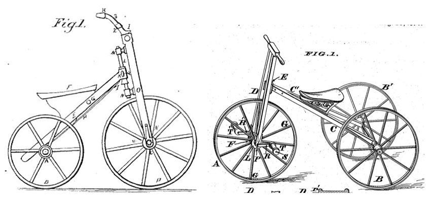 1870s tricycle patents