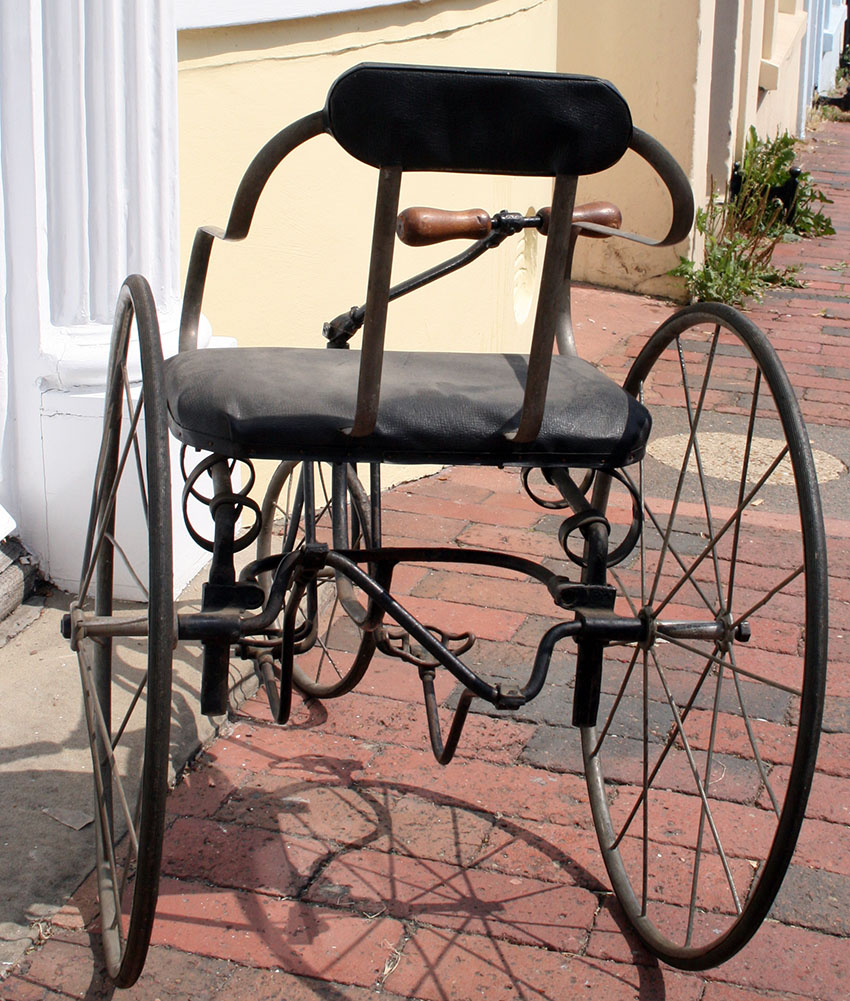 1890s Tiller & Treadle Juvenile Tricycle 88