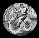 Velocipede race on the melbourne cricket ground