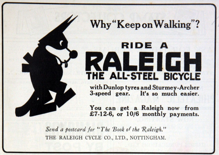 1925-felix-cat-raleigh-ad