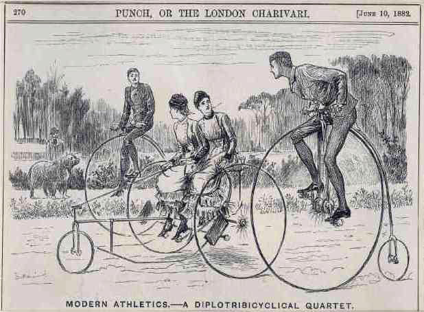 Victorian Picture Library - Victorian Illustrations - Cycling Flirtation