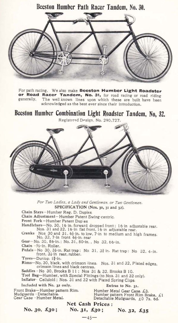 1901 humber tandem