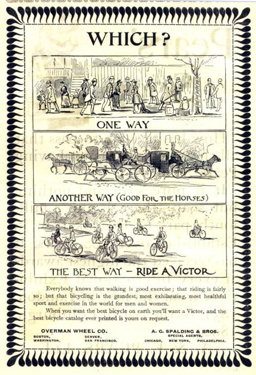 1893 Overman Victoria Single Tube Ladies Bicycle The