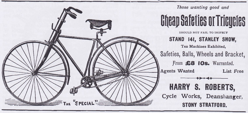 1889 Harry S Roberts Special Gent S Safety Bicycle The