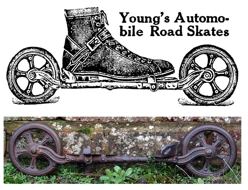 1911 Young's Autombile Road Skates