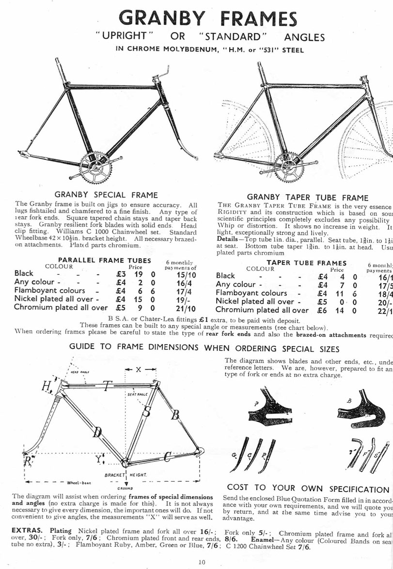 The Online Bicycle Museum 1936 Granby Lightweight Club With Taper Honda Accord Frame Diagram Cycles