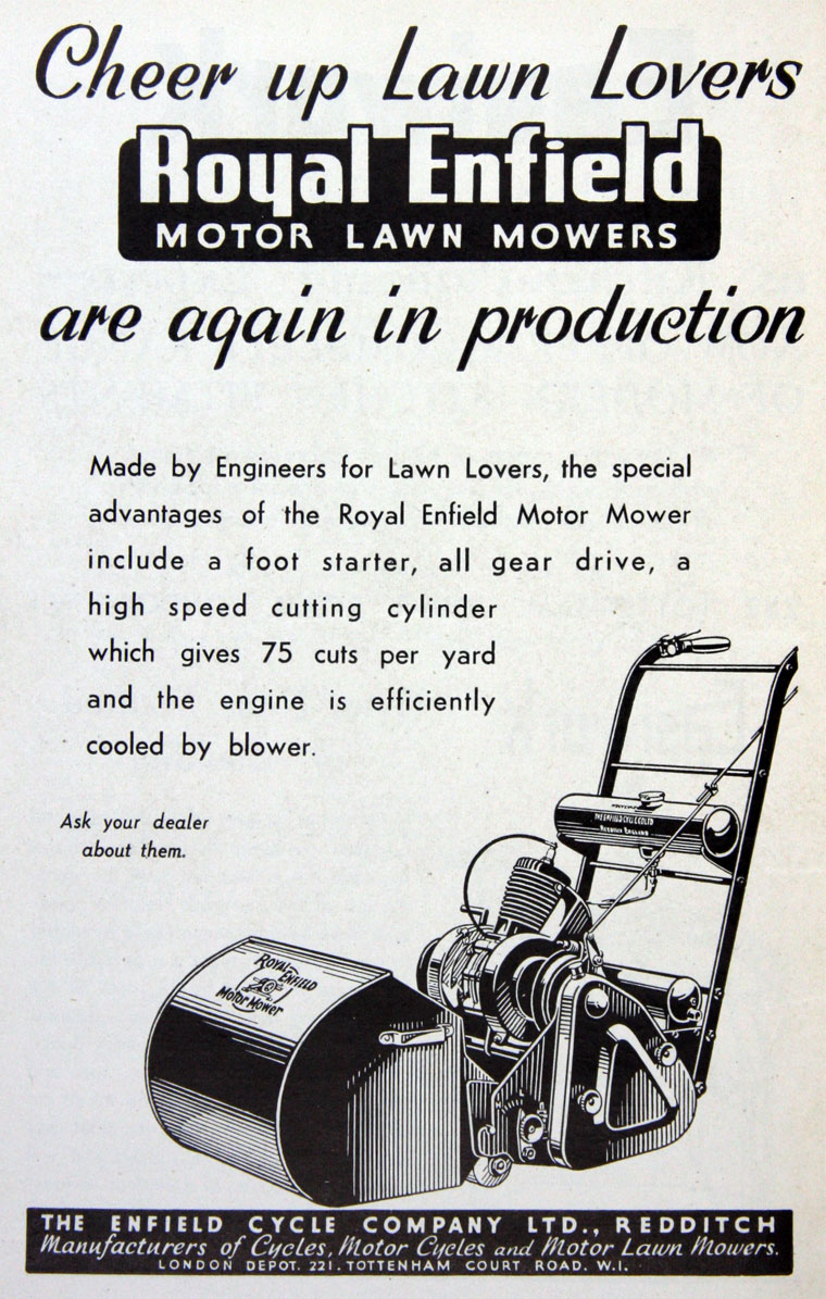 1947 Royal Enfield Lawnmower The Online Bicycle Museum