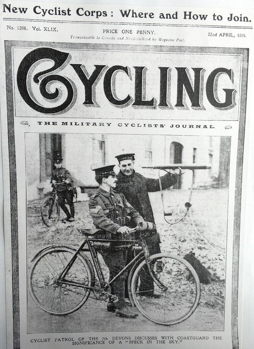 MILITARY CYCLIST WW1