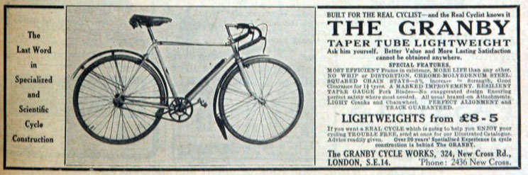 The Online Bicycle Museum » 1936 Granby Lightweight Club with Taper ...