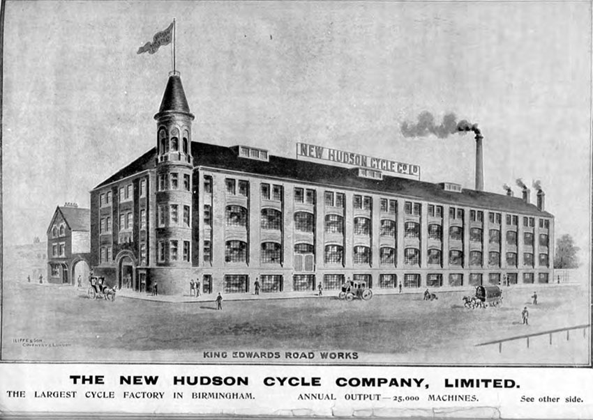 1897 new hudson cycle co birmingham factory 1