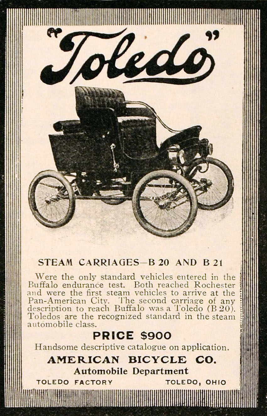 american bicycle co toledo steam car
