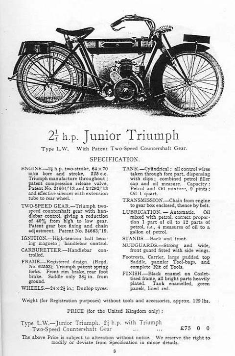 TriumphJuniorCatalogue1921