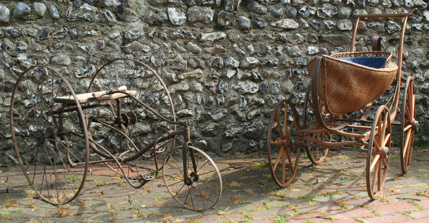 victorian trike and pram
