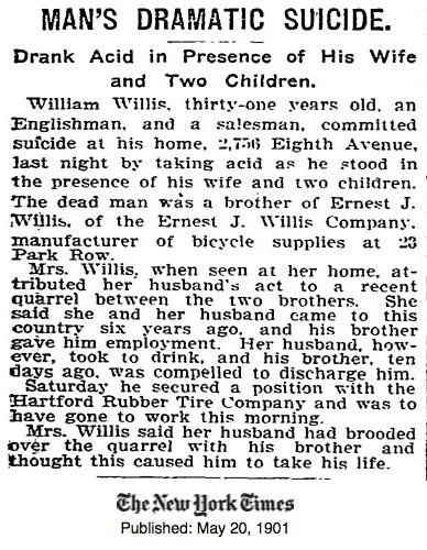 williamm willis suicide 1901