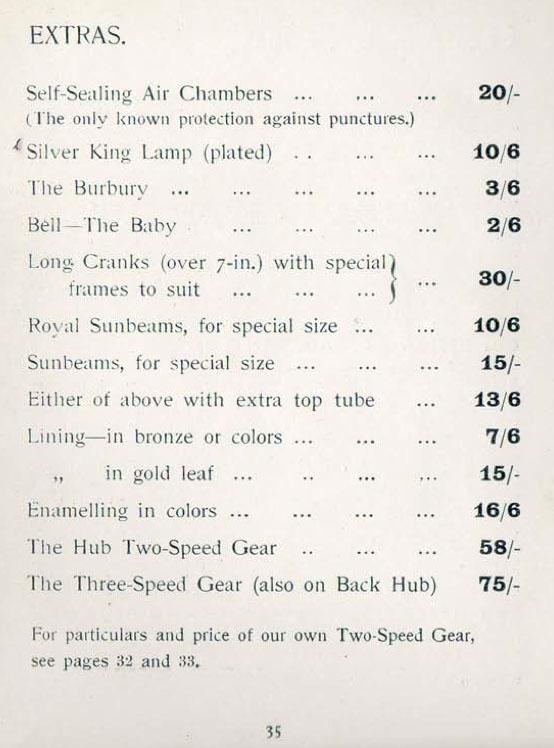 1903 sunbeam two speed hub gear