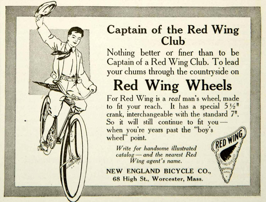 1917 red wing advert copy