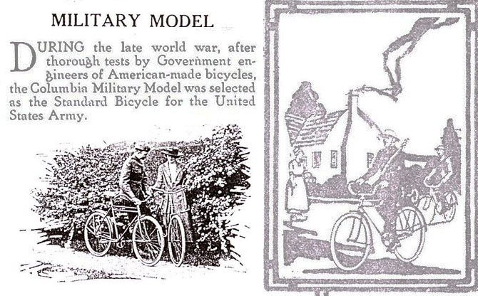 columbia military model bicycle