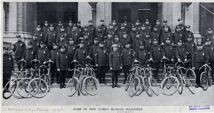 1895 new york police bicycle squad