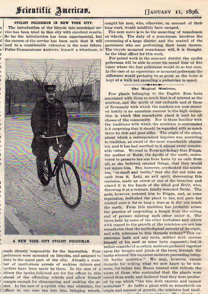 1896 eagle police bike