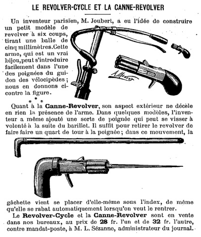 bicycle Revolver 1892 joubert