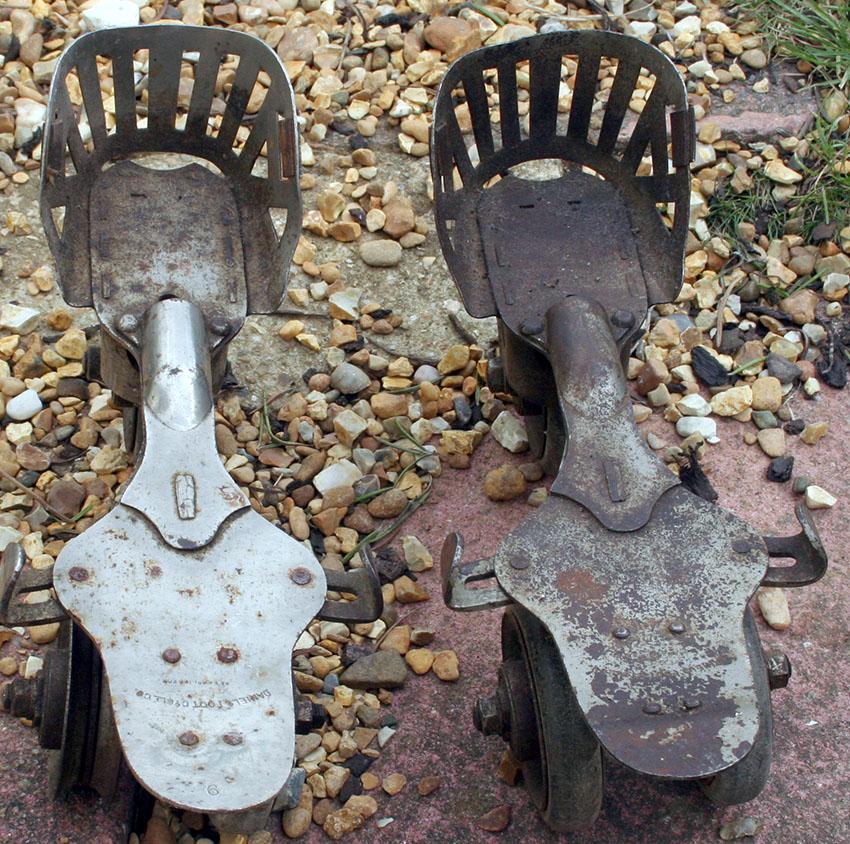 1897 Daniels Foot Cycle 3-Wheel Roller Skates 2