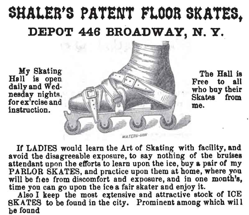 1860 Shaler PARLOR SKATE