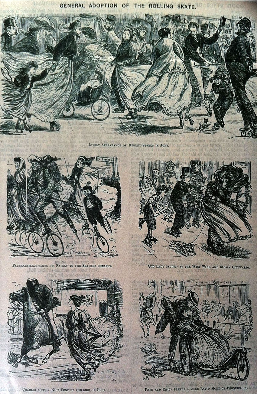 1866 17th february du maurier cartoon punch skating
