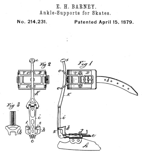 1879 eh barney skate support clamp