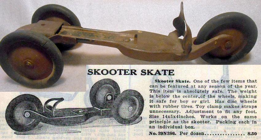 1928 BRINKMAN SKOOTER SKATE